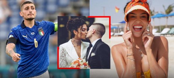 Verratti celebrates marrying his girlfriend after winning Euro 2020